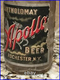 Bartholomay Apollo Pre Pro Labeled Beer Bottle. Rochester, New York