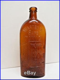 Basement Fresh Rare Warners SAFE Tonic Bottle Rochester NY A. &D. H. C Marked