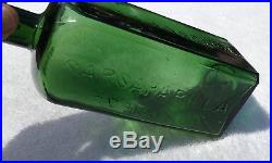 Beautiful 1800's Dr. Townsend's Sarsaparilla Albany Ny, Antique Bitters Bottle