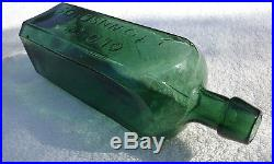 Beautiful Green/teal Old Dr. Townsend's Sarsaparilla N. Y, Antique Bottle