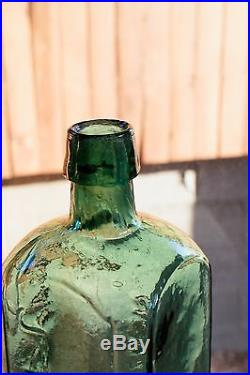 Beautiful Teal Green OLD DR J. TOWNSEND SARSAPARILLA NEW YORK Iron Pontil