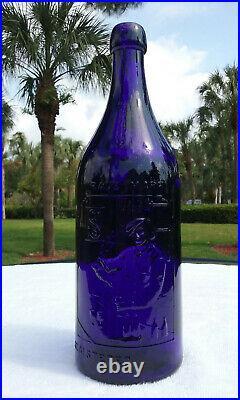 Best Man-cave Whiskey Bottle Ever! 1890's Blob-top G. B. Seely's Son New York