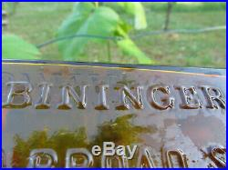 Biningers Old Kentucky Bourbon 1849 Reserve Peened Broad St Ny Address Gem