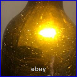 Blown Bottle SARATOGA NY HOTCHKISS CONGRESS Springs Nice Crude Amber 1860s