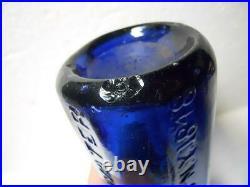 Blue 10 Sided Blob Top WP Knickerbocker New York City Soda Mineral Water Bottle