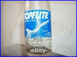 Blue label topflite beverages rochester ny acl soda bottle with fighter jet imag