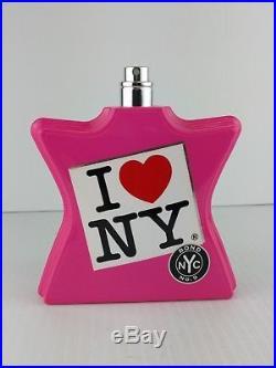 Bond No 9 I Love New York edp Women Original 3.4 oz TESTER BOTTLE Almost Full