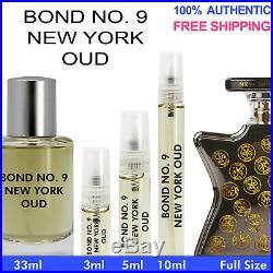 Bond No 9. New York Oud EDP 3ml 5ml 10ml 33ml Decant Bottle Spray Authentic Vial