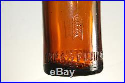 Buffalo Ny Amber Coca Cola Straight Side Bottle Nice! Scarce