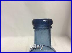 C. Heimstreet & Co Troy. NY Hair Tonic Open Pontil beautiful cobalt/Safire Blue