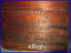 C1900 Atwoods Bitters Bottle New York Kansas City MO Advertising Box Carlyn Ring