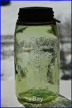 CITRON DEEP MASON'S PATENT NOV 30th 1858 CFJCo NEW YORK CAP GROUND LIP QT