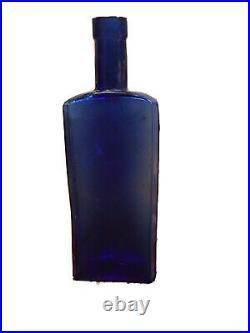 CIVIL War Era Dug New York Medical University Bottle Colbalt Blue In Richmond, Va