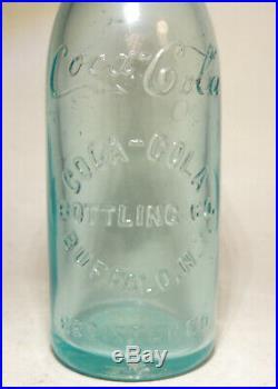 COCA-COLA Bottling Co Antique vtg Bottle BUFFALO NY Straight Side New York #1of4