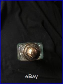 COLGATES Rare Vintage Lilac Imperial Toilet Water Bottle New York 1910