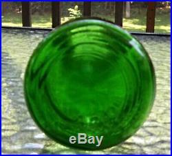 Carrigan's Niagara Dairy Co. Niagara Falls N. Y. Embossed Emerald Green Quart