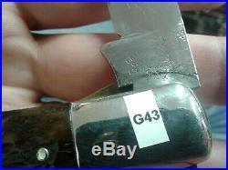 Cattaraugus Cutlery Co Little Valley Ny Linerlock Coke Bottle Pocket Knife G43