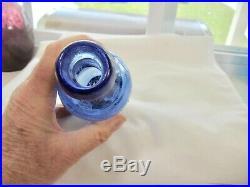 Circa 1850's Blue F. G. Gleason Pontil Blob Top Soda Water Bottle Rochester, Ny