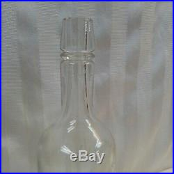 City Club Rye Buffalo NY Antique Clear Glass Whiskey Bottle