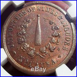 Civil War Token Benner & Bendinger, Wine Bottle, NY, MS63 BN, Roloff, 630F-1a