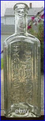 Clear Open Pontil Doctor Curtis' Inhaling Hygean Vapor New York Medicine Bottle
