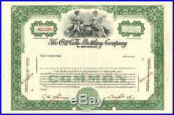 Coca-Cola Bottling Company of New York, Inc. Stock Certificate