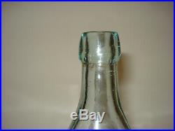Colonial Bottling Co. Manhattan, N. Y. Indian Picture Blob Top Soda/Beer Bottle