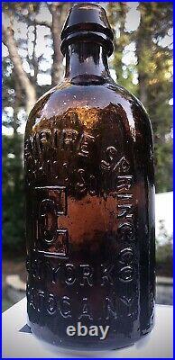 Congress & Empire Spring Co Hotchkiss' Sons / E / New York Brilliant Honey Amber