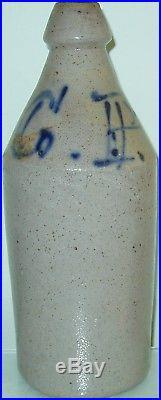 Cunningham & Powers CP Stoneware Bottle Cobalt Script Newburgh N. Y. NY New York