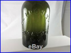 D. A. Knowlton Saratoga N. Y. Qt. Pure Green Color