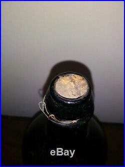 DA Knowlton Saratoga Springs, New York Glass Mineral Water Bottle 1800s