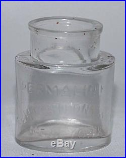 DERMALINE E & H T ANTHONY NEW YORK Wet Plate Photography Chemical Bottle c1875