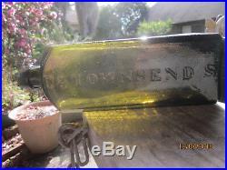 DR. TOWNSEND'S SARSAPARILLA ALBANY N. Y. No 1 PONTIL MEDICINE BOTTLE 1840 RARE