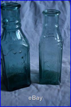 Darker aqua Embossed W. D. S, NY pickle. Iron Pontil, pg 386, Zumwalt book