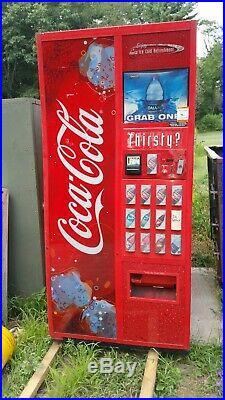Dixie Narco Coke bottle Vending Machine 12 selection in ny