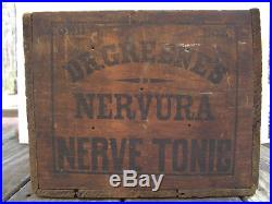 Dr Greenes Nerve Tonic Wooden Advertising Box For Medicine Cure Bottles Ny