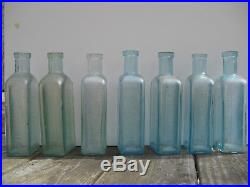 Dr Greenes Nerve Tonic Wooden Advertising Box & Medicine Bottles Ny Boston Nh