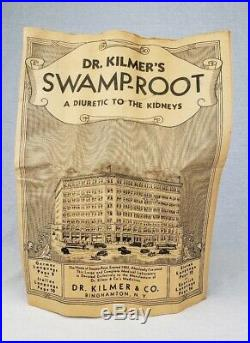 Dr. Kilmers Cough Syrup Cure Binghamton NY Antique Bottle & Box With Contents