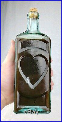 Dr. Kilmers Heart Remedy Binghamton NY Antique Bottle With Contents Attic MINT