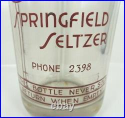 Dr. Pepper Bottling Springfield Seltzer Phone 2398 Bottle Beer & Soda Bronx Ny