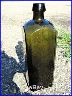 Dr Townsend Sarsaparilla Bottle Albany, NY Olive Green Crude Pontil