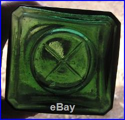 Dr. Townsend's Sarsaparilla Albany, N. Y. Deep Green, X Base, Crazy Crude Top