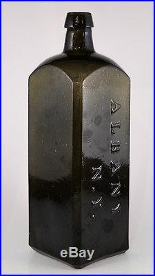Dr. Townsend's Sarsaparilla Bottle Olive Green Albany N. Y. Pontil