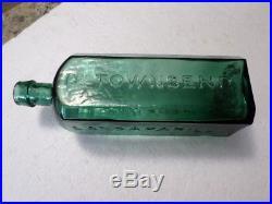Dr. Townsend's Sarsaparilla, New York, Iron Pontil, Apl. Tapered Lip, Spakling Teal