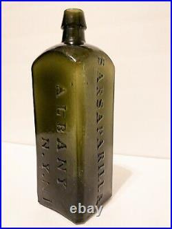 Dr. Townsends Sarsaparilla Albany N. Y. No. 1 Antique Bottle Excellent Condition