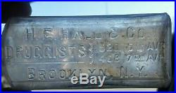 Druggist Brooklyn NY H E Hall Druggist Antique Medicine Bottle c1890