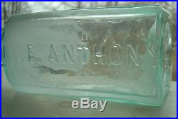 E. Anthony / 308 Broadway New York pontil antique photography chemical bottle