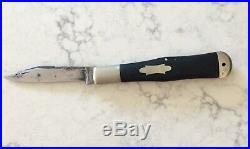 EARLY ULSTER KNIFE CO. NY Coke Bottle Pocketknife, Ebony Handle