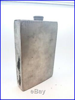 ESTATE Abercrombie And Fitch Silver Vintage Flask England New York 64 OZ Rare