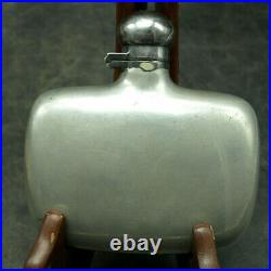 Early 1900s Nickel Silver Abercrombie & Fitch NY Hip Flask MADE IN ENGLAND (B2)